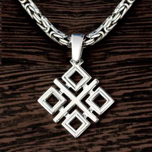 Кулон символ Макоши из серебра