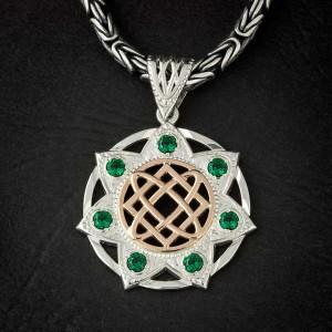 Звезда Лады-Богородицы. Золото, серебро, камни